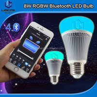 alibaba express new products CE ROHS certificated new lighting product 8w iphone control music flash Bluetooth Led light bulb