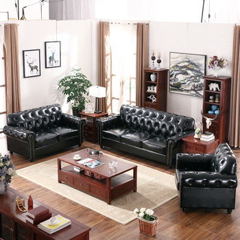 wooden sofa set designs for living room. 2017 american modern latest design classic style living room furnitue black  genuine leather sectional wooden sofa American Modern Latest Design Classic Style Living Room