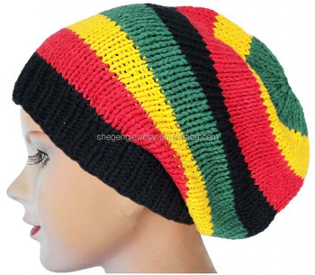 53696f846 Rasta Reggae Men & Women Handmade Crochet Knit Braided Stretchy Baggy Hat -  Buy Rasta Reggae Men & Women Handmade Crochet Knit Braided Stretchy Baggy  ...
