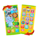 Double sided English smart toy mobile phone for kids