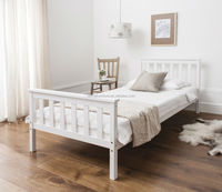 SD-1010 white Modern solid pine wood single bed