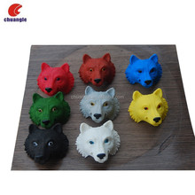 Factory custom wholesale resin wolf head, resin wolf, wolf Gift