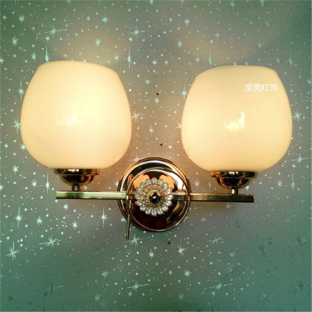 Wall lamp creative wall lamp modern simple glass single head bedside corridor lamp project wall lamp hotel wall lamp room wall lamp