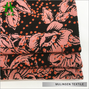 Knitting Discharge Printed 95 Rayon 5 Spandex Fabric with Elasticity