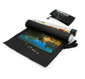 Jigsaw Puzzle Roll up felt Mat, Puzzle Storage Mat, Long Box Package with A Drawstring bag