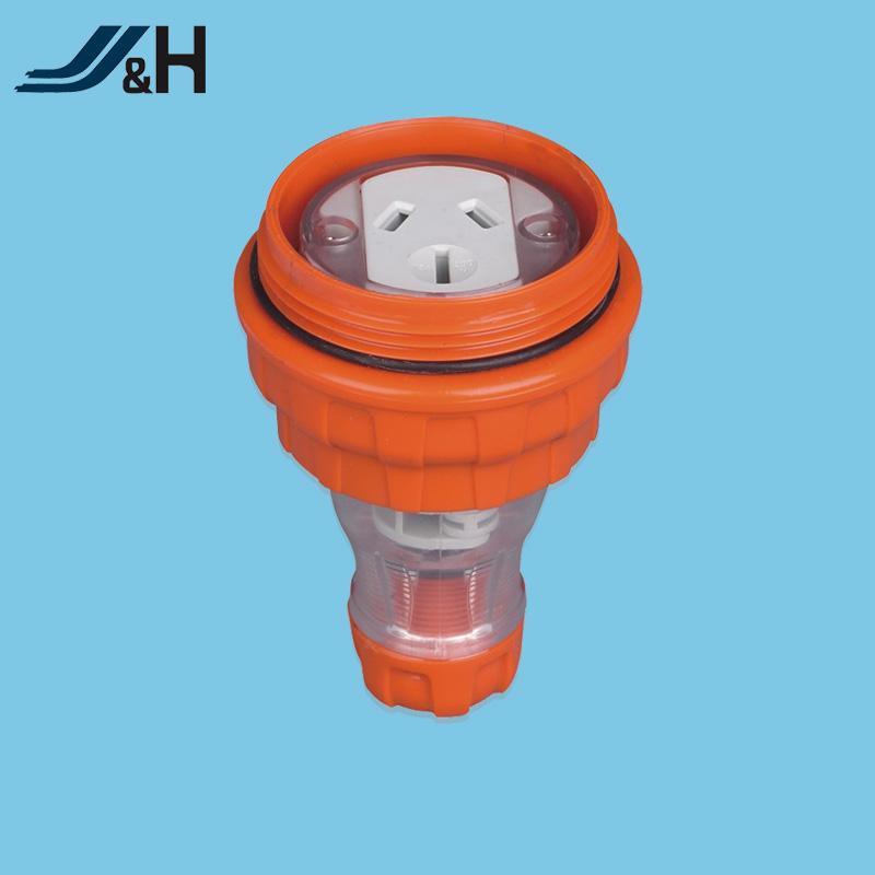 Single Phase Outdoor Portable Socket Waterproof Ip66 15a
