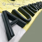 Led stainless steel word 3d exterior illuminated front lit sign lighted channel letter