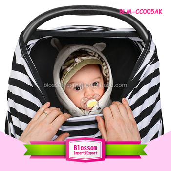 Wholesale multi-use baby carseat nursing cover stretchy carseat canopy cover