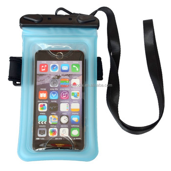 Blue TPU Waterproof Pouch Bag Case for iPhone 7 Plus / Samsung Galaxy S8 / LG G6