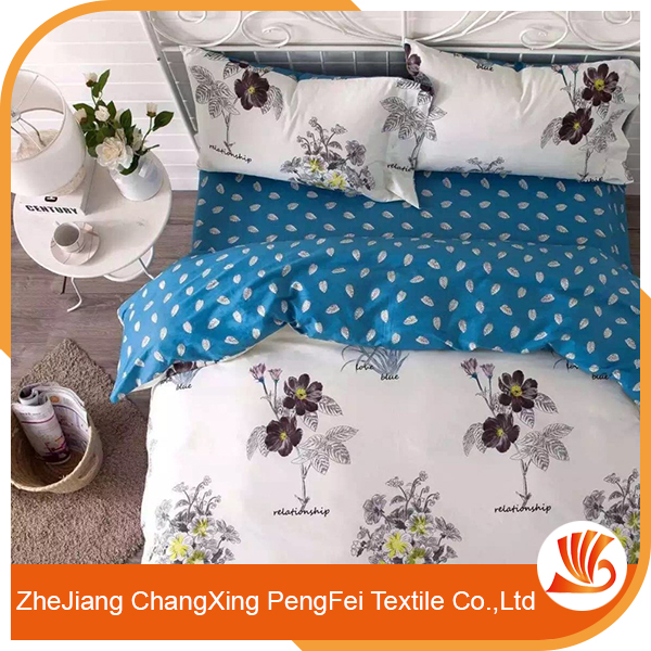 Elegant style full of modern flavor microfiber disperse bedding sheet set fabric