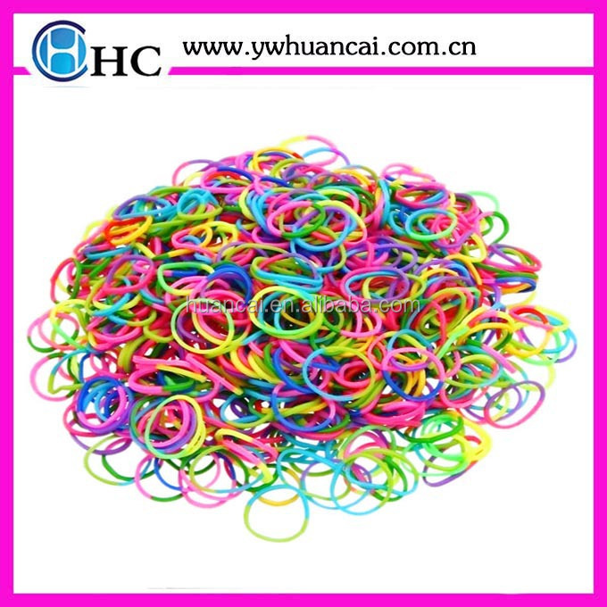 hot selling metallic colors diy rubber loom bands & rubber bands wholesale