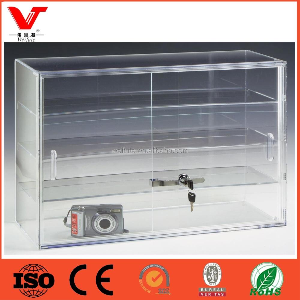 Acrylic Lockable Countertop Display Case, Acrylic Lockable ...