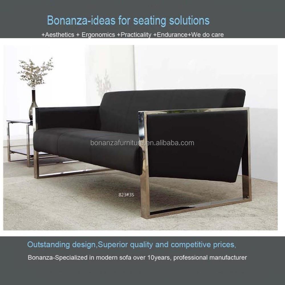 Modernes Design Leder Sofa Mit Metallrahmen 823# - Buy Modernes Sofa ...