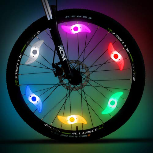 20led 18 Patterns Bicycle Spoke Wheel Light Mountain Bike Cycling String Wire Lamp Ip66 Waterproof 2m String Night Tire Light Bicycle Light