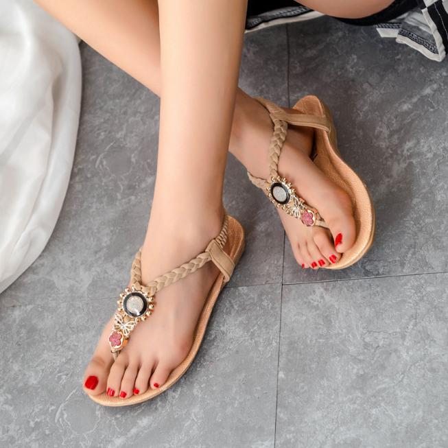 dl10068b vrouwen nieuwe ontwerp mode platte zomer sandalen