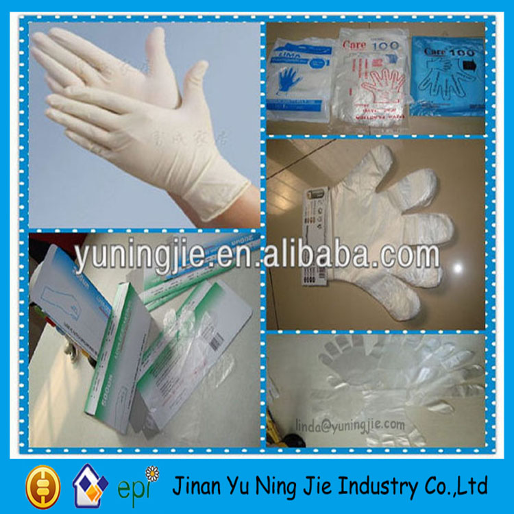 Food handling disposable plastic clear HDPE PE glove