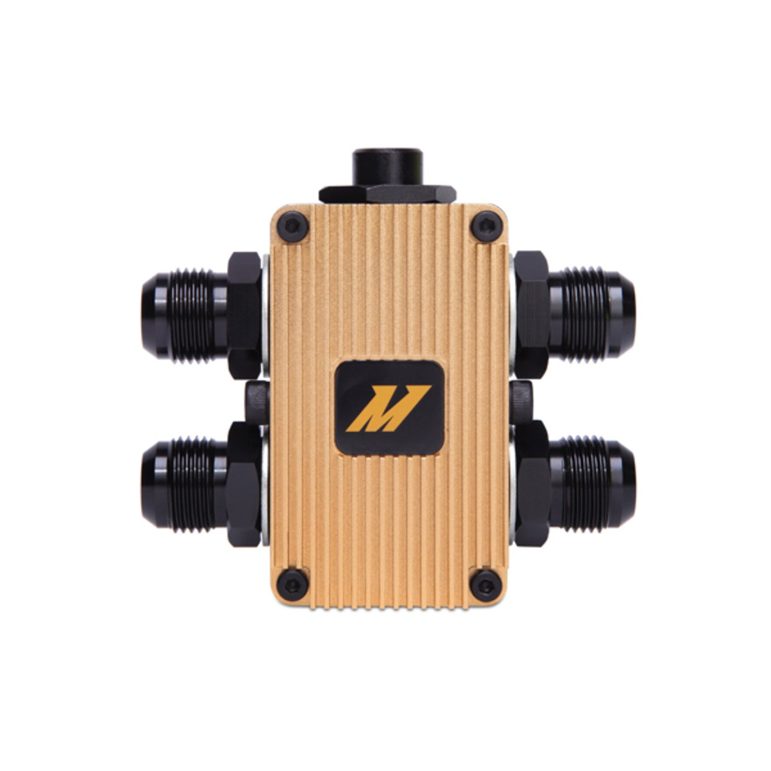 Mishimoto (MMOP-EXTFC) Black/Gold In-Line Oil Thermostat