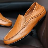 sh10016a 2019 Hot model summer genuine leather shoes men new fashion slip on driving shoes