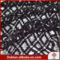 100% Polyester black Sequins Embroidery Fabric