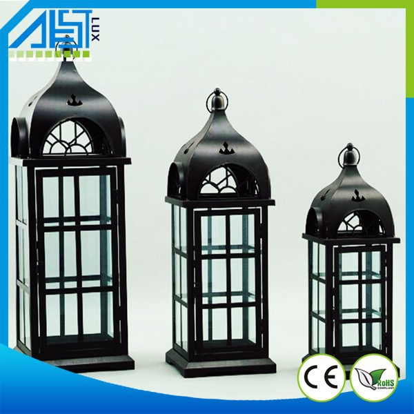 New design cube metal candle holder wrought iron candle holder