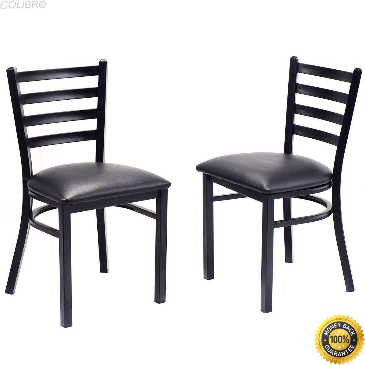 At Home Kitchen Chairs.Buy Colibrox Set Of 2 Metal Dining Chairs Upholstered Home Kitchen