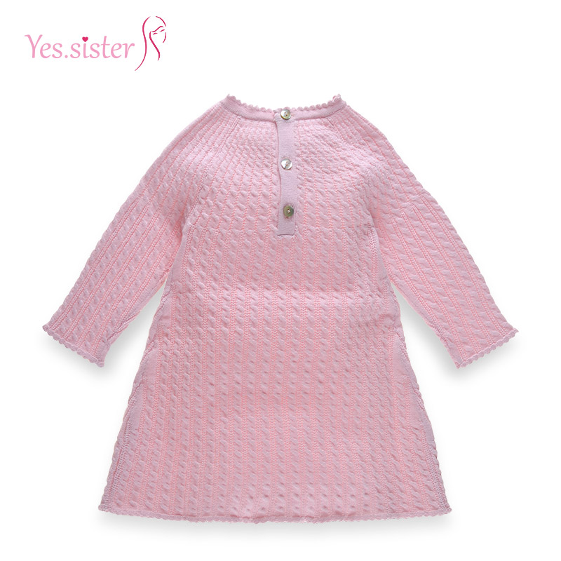 2017 Baby Girls Dress Design Pink Cable Sweaters Knitting Patterns ...