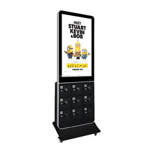 Rete floor stand HD 42 pollice <span class=keywords><strong>wifi</strong></span> <span class=keywords><strong>tv</strong></span>/segnaletica digitale con stazione di ricarica del <span class=keywords><strong>telefono</strong></span> multipla