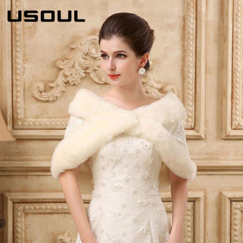 2017 Fashion White Wedding Dress Shawl Bride Warm Wool Whole