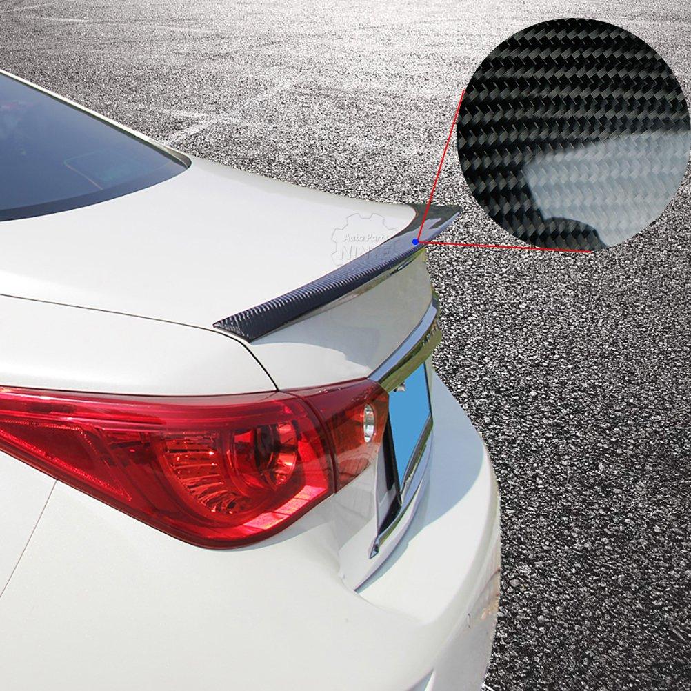 NINTE Sleek Trunk Spoiler Wing for Infiniti Q50/Q50S 2014-2018 Carbon Fiber ABS Plastic
