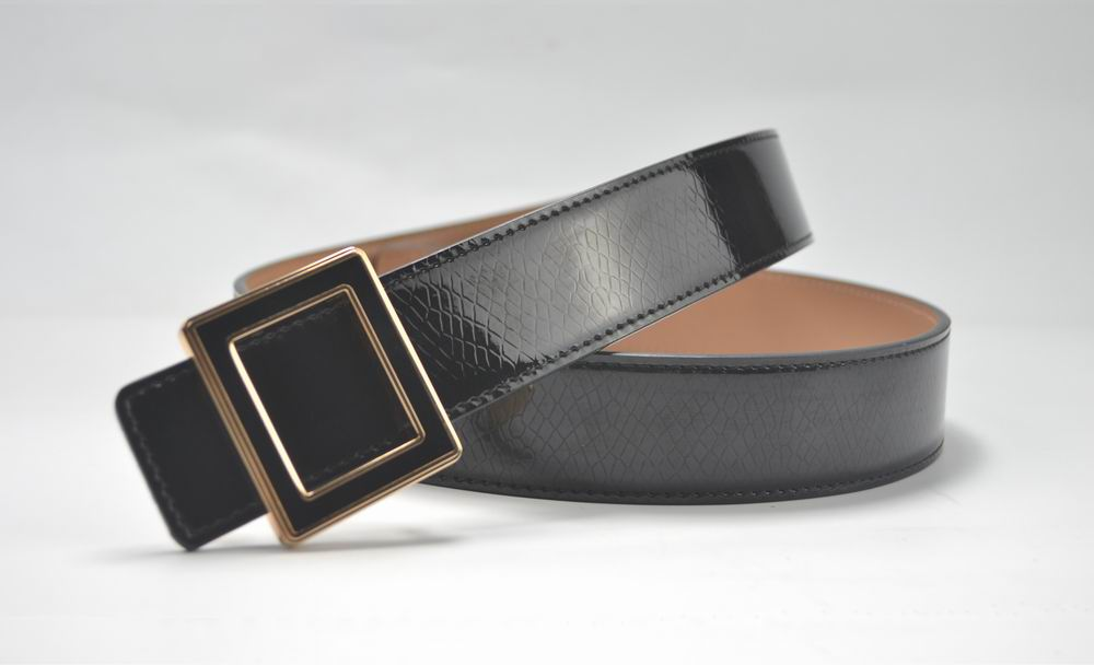 Carosung Hot High Quality Plate Buckle Split Leather Belt For Women