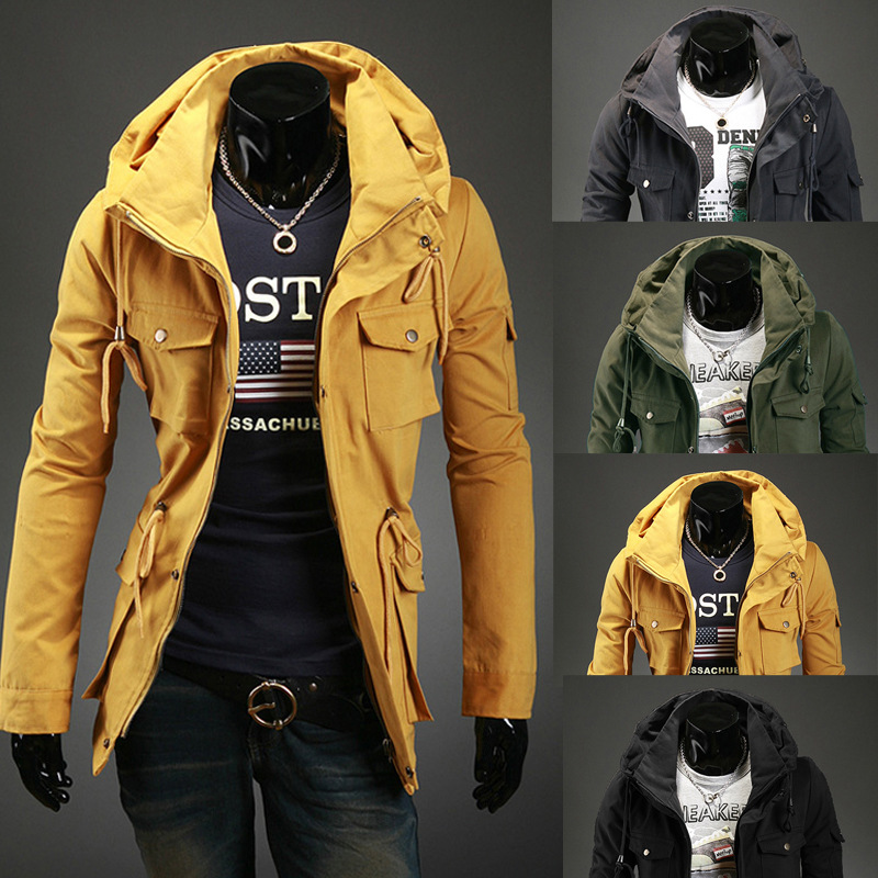 China Factory Men's City Fabric Material Wind Tanking Jacket Stainless Steel