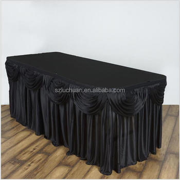 Gorgeous Rectangular Black Buffet Table Cloths For Wedding Party