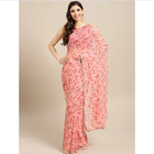 Indian national clothing women's printed Woven Saree With Blouse