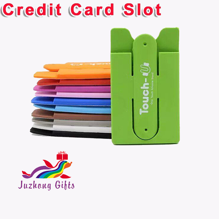smart wallet silicone card hold/card holder for cell phone/adhesive card holder