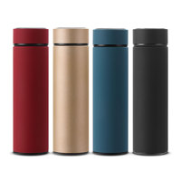 480ML Business Water Bottle Stainless Steel Water Bottle With Rubber Coating