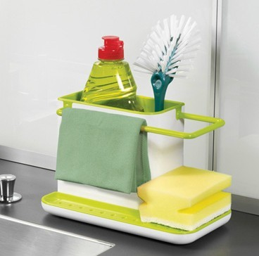 Caddy Self Draining Sink Tidy Sink Aid Organizer Brush