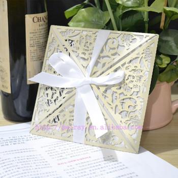 Wholesale Wedding Invites Laser Cut Invitation Wraps Ivory Buy