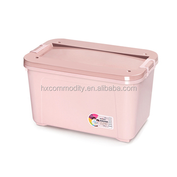 Plastic storage container 50l clothes storage box with wheel  sc 1 st  Alibaba & Plastic Storage Container 50l Clothes Storage Box With Wheel - Buy ...