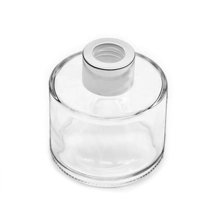 4oz 120ml clear aroma reed diffuser round glass bottle with aluminum cap