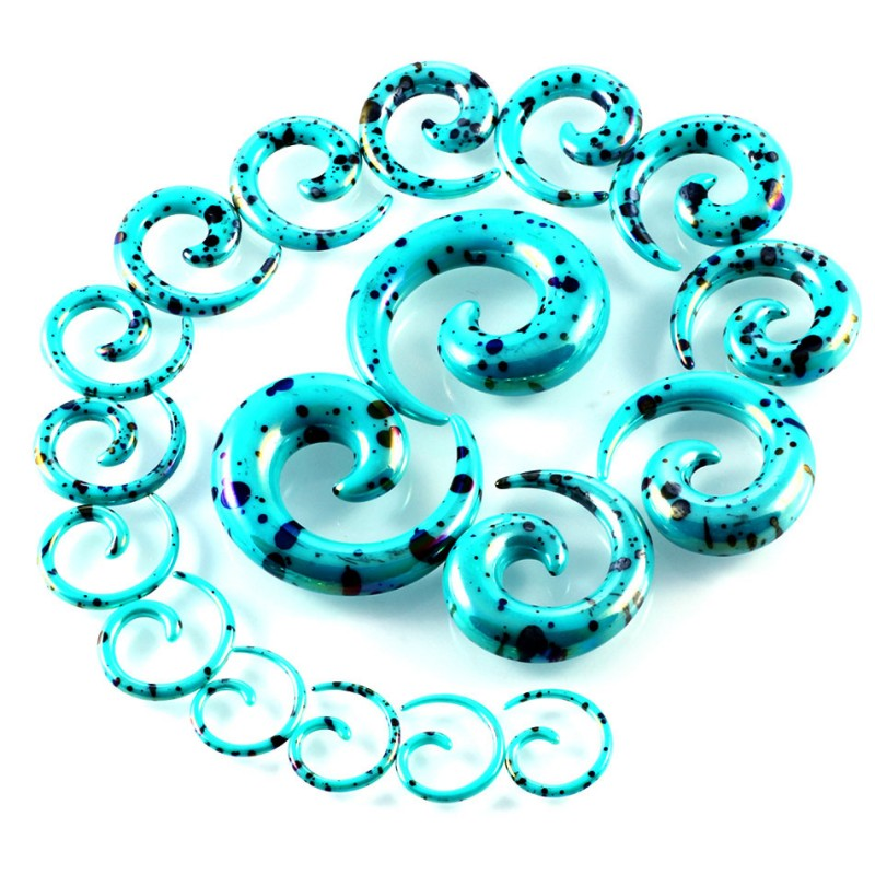 14G-00G 52pcs/set Acrylic Ear Stretching Kit With Plugs Taper Piercing Spiral Snail Tunnel Piercing Body Jewelry Set 6 Color