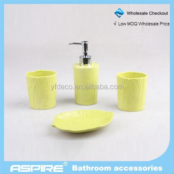 grossiste accessoires salle de bain jaune acheter les meilleurs accessoires salle de bain jaune. Black Bedroom Furniture Sets. Home Design Ideas