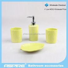 promotioneel gele badkamer accessoires set, koop gele badkamer, Badkamer
