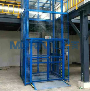 CE approved small freight elevator lifts hydraulic pallet cargo lift table