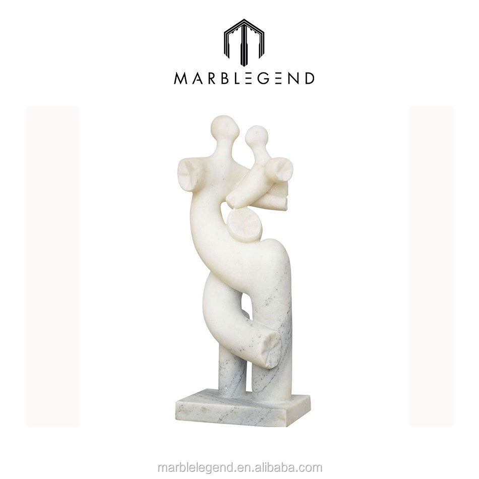 Abstract couple in love art modern marble sculpture