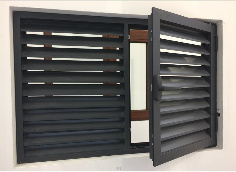 Aluminum Alloy Louver Plantation Shutter Window