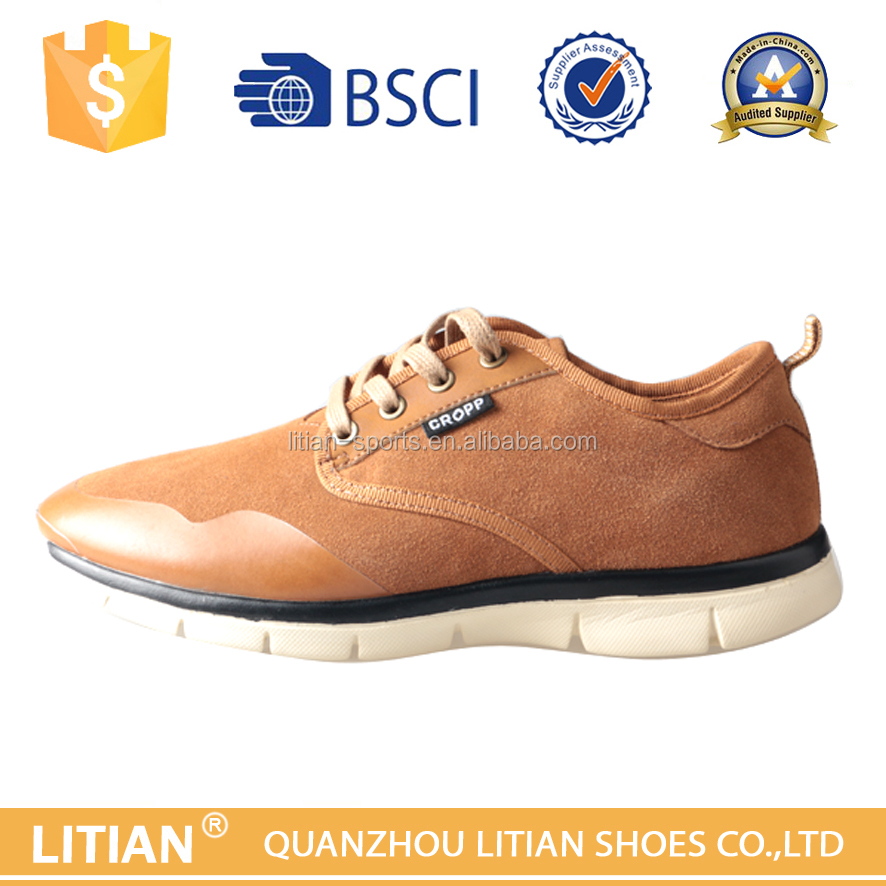 Jinjiang Fujian China Supplier Bestest Quanlity Men Leather Shoes