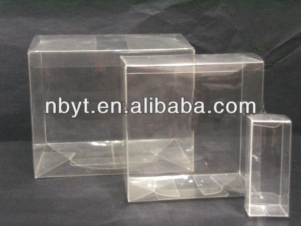 Transparent plastic packaing boxes for wine glass China supplier