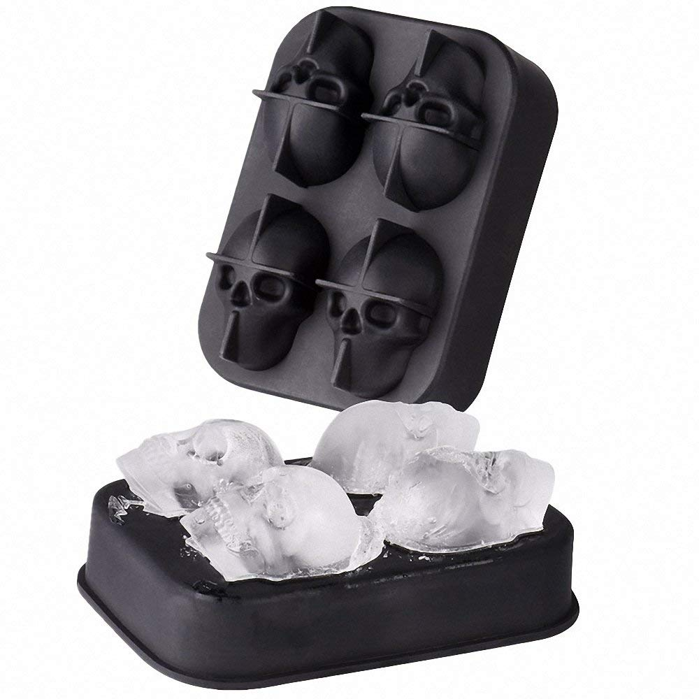 Ice Cube Trays Round Sphere Mold with 3D Mold Large 2.5 Inches Silicone Ball Maker with Lid Funnel and Tongs