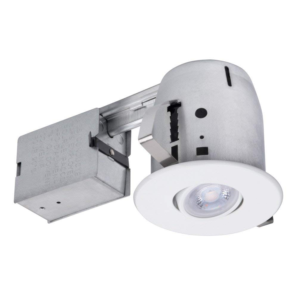 White Ic Rated Recessed Lighting Kit Led Bulb Included