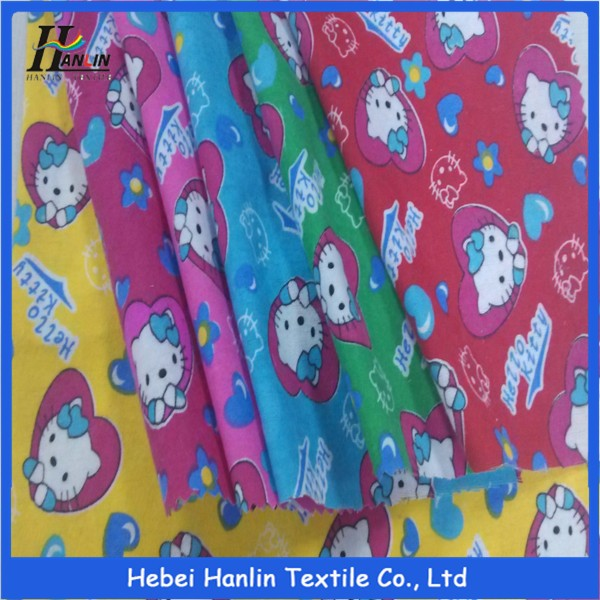 trade assurance children high quality 100 cotton organic printed flannel fabric for baby